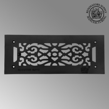 Heat Register - Grille with  Logo Cast Aluminum Overall 5 1/2 x 14 by the Renovator's Supply