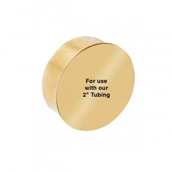 spec-<PRE>2&quot; OD Flush End Plug Bright Solid Brass </PRE>