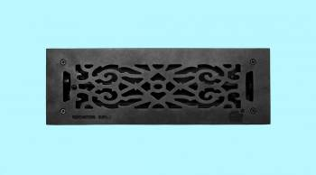 <PRE>Floor Heat Register Louver Vent Victorian Cast 4inch x 14&quot; Duct </PRE>zoom2