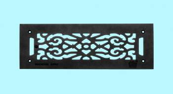 Heat Register - Grille with  Logo Cast Aluminum Overall 5 1/2 x 16 by the Renovator's Supply