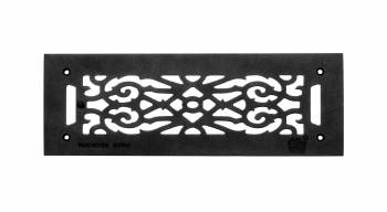 Heat Air Grille Cast Victorian Overall 5 1/2