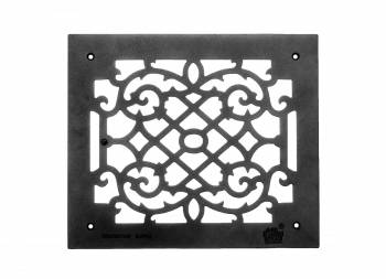 Grille w/ Logo Cast Aluminum Overall 12 x 14