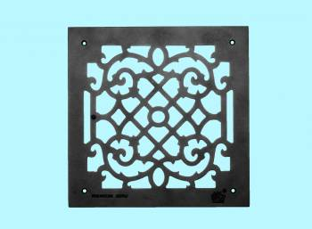 <PRE>Heat Air Grille Cast Victorian Overall 14 x 14 </PRE>