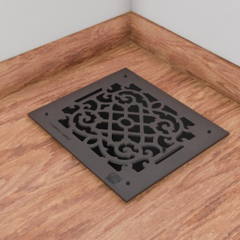 Heat Air Grille Cast Victorian Overall 13 78 x 15 78 floor register air vent grilles return air grill