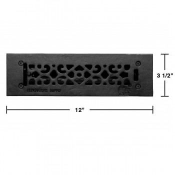spec-<PRE>Floor Heat Register Louver Vent Cast 2 1/4 x10 Duct </PRE>