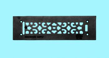 Heat Register - Grille with  Logo Cast Aluminum Overall 3 1/2 x 12 by the Renovator's Supply