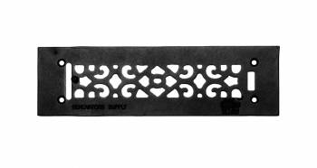 Heat Air Grille Cast Victorian Overall 3 1/2 x 12 23104grid