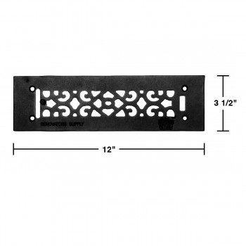 spec-<PRE>Heat Air Grille Cast Victorian Overall 3 1/2 x 12 </PRE>