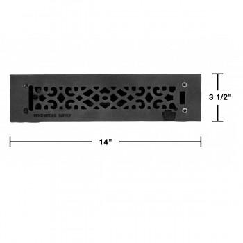 spec-<PRE>Floor Heat Register Louver Vent Cast 2 1/4&quot; x 12&quot; Duct </PRE>
