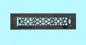 Heat Register - Grille with  Logo Cast Aluminum Overall 3 1/2 x 14 by the Renovator's Supply