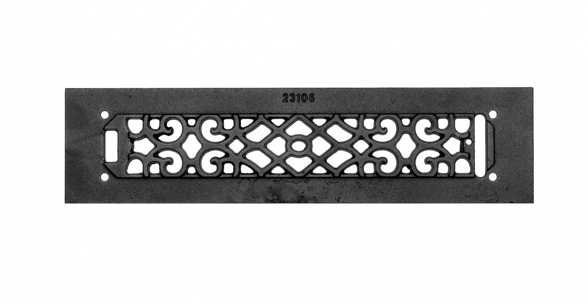Heat Air Grille Cast Victorian Overall 3 12 x 14 Heat Register Floor Register Wall Registers