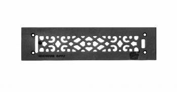 Heat Air Grille Cast Victorian Overall 3 1/2 x 14 23106grid