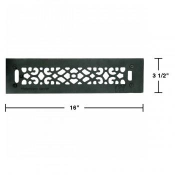 spec-<PRE>Floor Heat Register Louver Vent Cast 2 1/4 x 14 Duct </PRE>