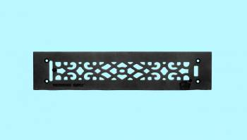 Heat Register - Grille with  Logo Cast Aluminum Overall 3 1/2 x 16 by the Renovator's Supply