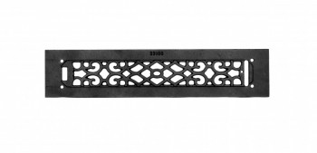 <PRE>Heat Air Grille Cast Victorian Overall 3 1/2 x 16 </PRE>zoom3