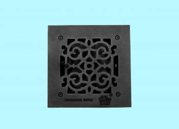 <PRE>Floor Heat Register Louver Vent Victorian Cast 6inch x 6&quot; Duct </PRE>zoom2