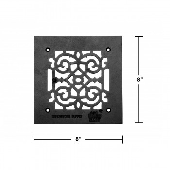 spec-<PRE>Heat Air Grille Cast Victorian Overall 8 x 8 </PRE>