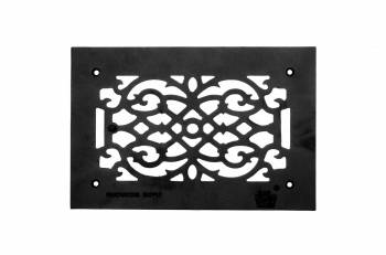 Grille w/ Logo Cast Aluminum Overall 8 x 12