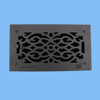 <PRE>Floor Heat Register Louver Vent Victorian Cast 6inch x 12&quot; Duct </PRE>zoom2
