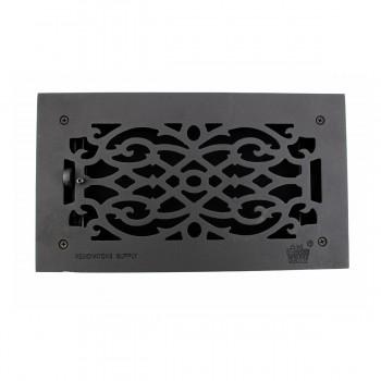 "<PRE>Floor Heat Register Louver Vent Victorian Cast 6inch x 12"" Duct </PRE>zoom12"