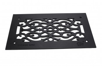 Heat Air Grille Cast Victorian Overall 8 x 14