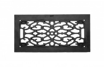 <PRE>Heat Air Grille Cast Victorian Overall 8 x 16 </PRE>