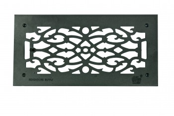 Grille w/ Logo Cast Aluminum Overall 8 x 16