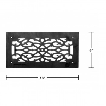 spec-<PRE>Heat Air Grille Cast Victorian Overall 8 x 16 </PRE>