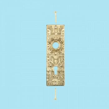 <PRE>Door Back Plate Solid Brass Queen Anne 5 1/4inch H </PRE>zoom2