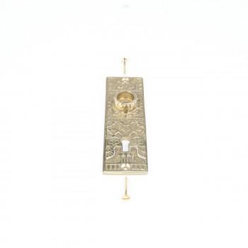 <PRE>Door Back Plate Solid Brass Queen Anne 5 1/4inch H </PRE>zoom3