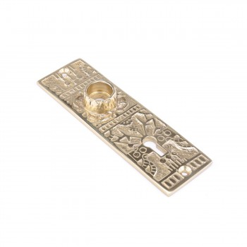 <PRE>Door Back Plate Solid Brass Queen Anne 5 1/4inch H </PRE>zoom4