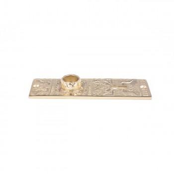 Door Back Plate Solid Brass Queen Anne 5 14 H Door Plate Door Plates Antique Door Plates