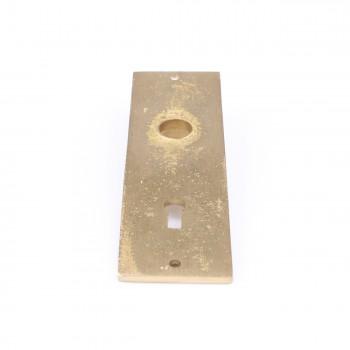 <PRE>Door Back Plate Solid Brass Queen Anne 5 1/4inch H </PRE>zoom6