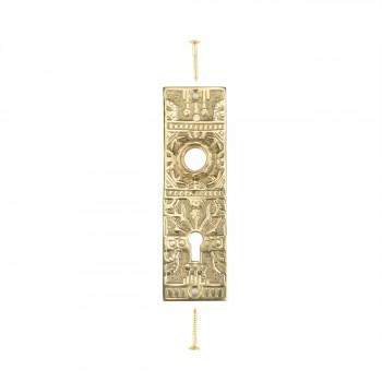 <PRE>Door Back Plate Solid Brass Queen Anne 5 1/4inch H </PRE>zoom1