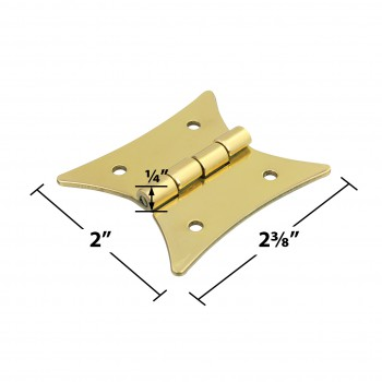 "spec-<PRE>Cabinet Hinges Bright Brass Hinge 2 3/8"" x 2"" </PRE>"