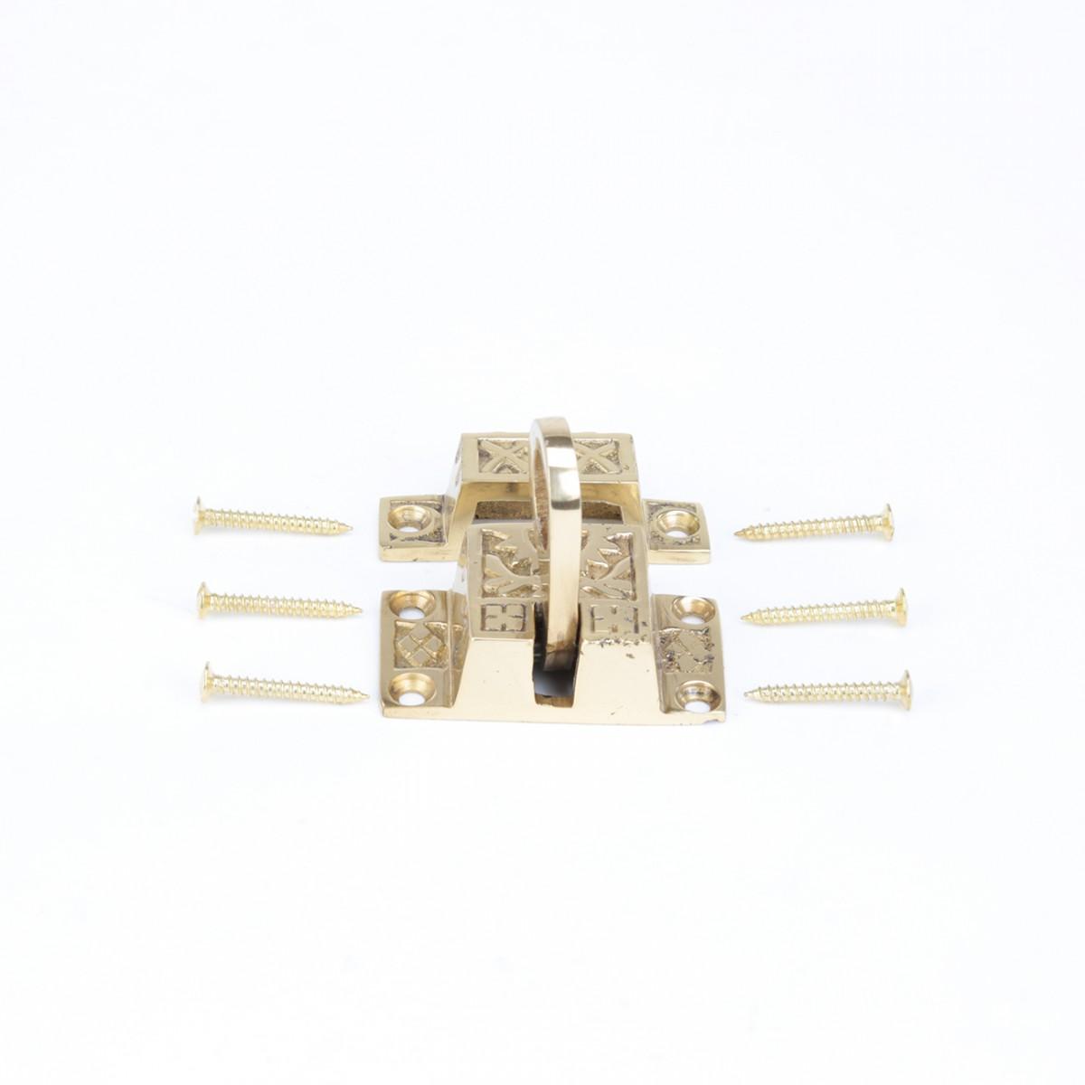 Ornate Cabinet Or Cupboard Slide Latch Solid Brass 2 W Brass Furniture Cabinet Cupboard Hardware Slide Lock Latch Catch Holder