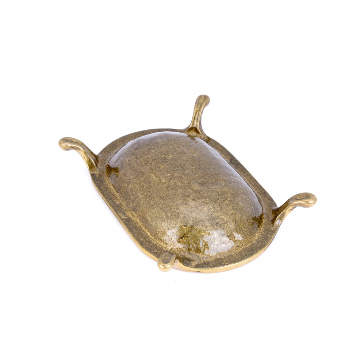 Vintage Freestanding Brass Soap Dish Clawfoot Tub Style