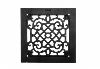 <PRE>Heat Air Grille Cast Victorian Overall 10&quot; x 10&quot; </PRE>