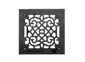 Grille w/ Logo Cast Aluminum Overall 10 x 10
