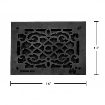 spec-<PRE>Floor Heat Register Louver Vent Cast 8&quot; x 12 Duct </PRE>
