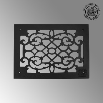 Heat Register - Grille with  Logo Cast Aluminum Overall 10 x 14 by the Renovator's Supply