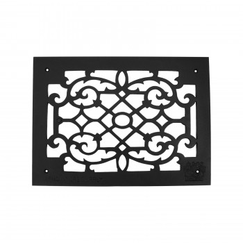 Heat Air Grille Cast Victorian Overall 10 x 14
