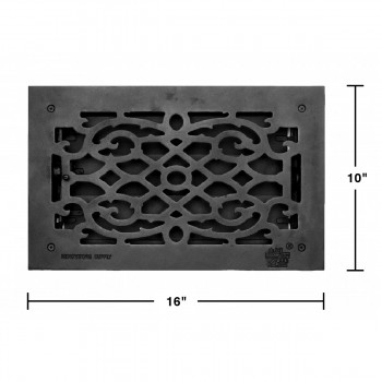 "spec-<PRE>Floor Heat Register Louver Vent Cast 8"" x 14 Duct </PRE>"