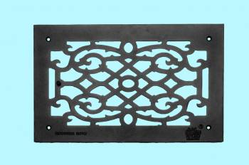 <PRE>Heat Air Grille Cast Victorian Overall 10&quot; x 16&quot; </PRE>