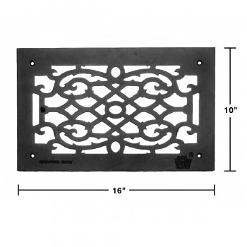 spec-Heat Air Grille Cast Victorian Overall 10