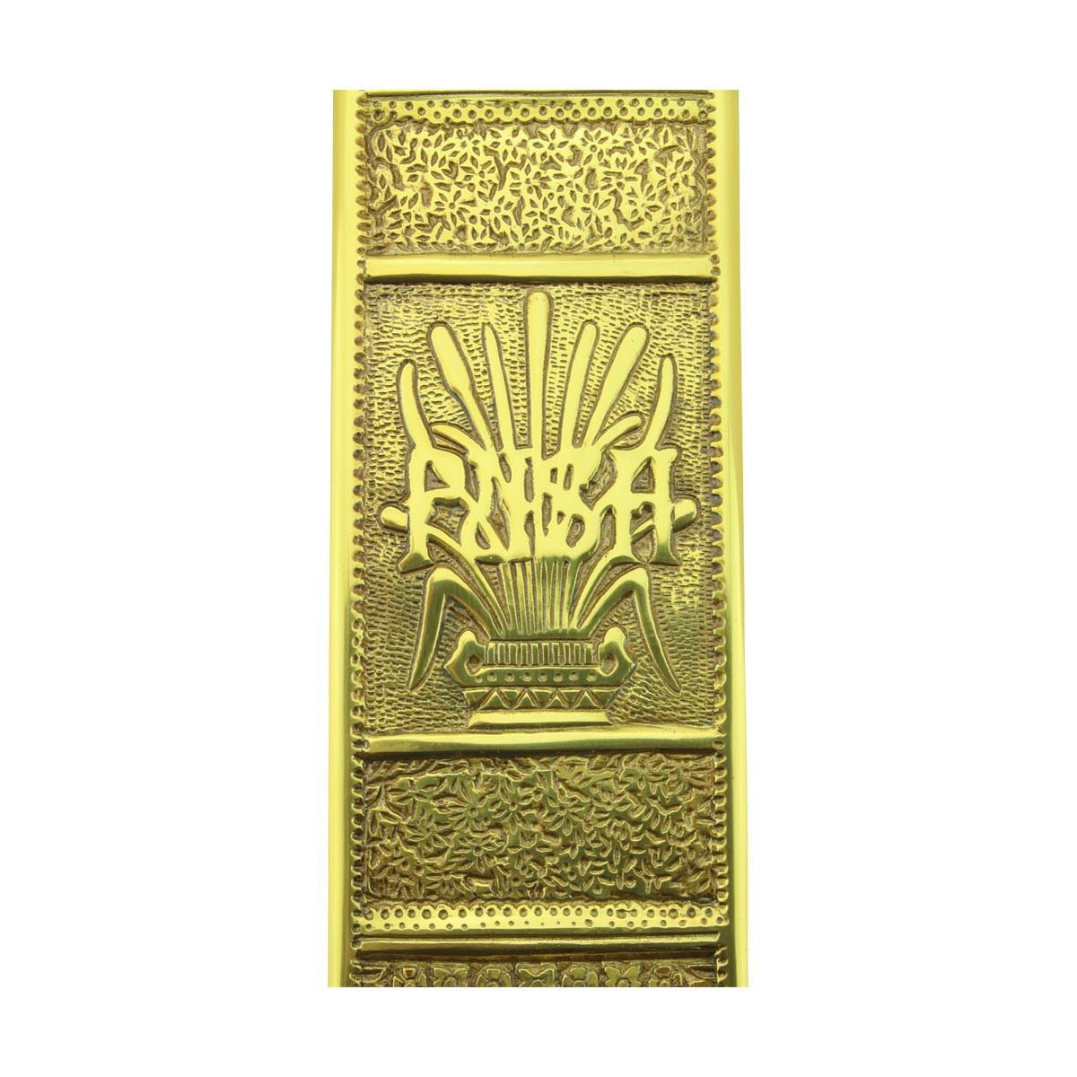 Baroque Door Push Plate Cast Brass 11 12 H Push Plate Push Plates Door Push Plate