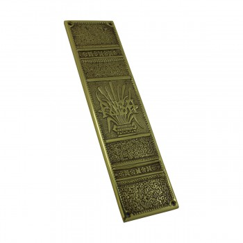 <PRE>Baroque Door Push Plate Cast Brass 11 1/2inch H </PRE>zoom4
