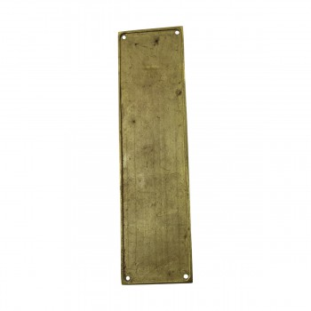 <PRE>Baroque Door Push Plate Cast Brass 11 1/2inch H </PRE>zoom8
