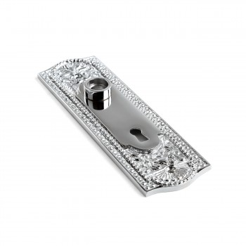 <PRE>Door Back Plate Chrome Solid Brass Beaded With Keyhole 7 1/4inch H</PRE>zoom3