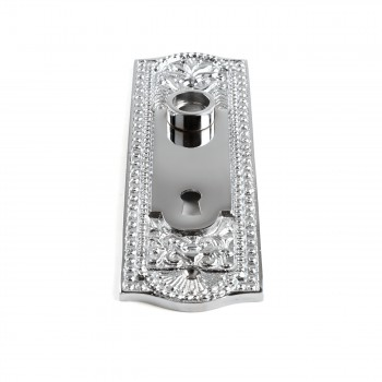 <PRE>Door Back Plate Chrome Solid Brass Beaded With Keyhole 7 1/4inch H</PRE>zoom5